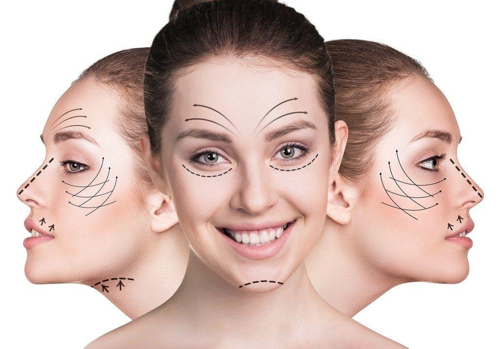 perfiloplastia de nariz, pómulos, mentón y mandíbula